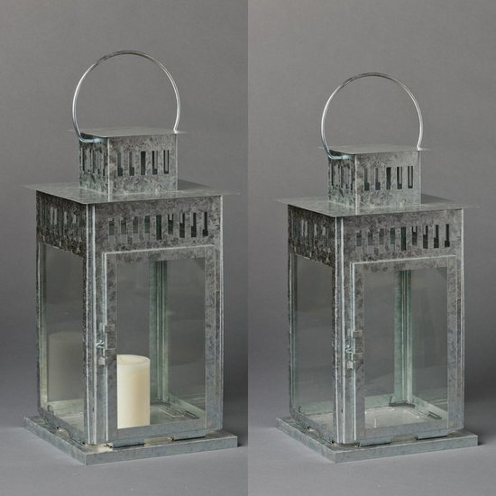... Lantern Com Silver Galvanized Square Oversized Lantern With Candle Southern Events Nashville  ...