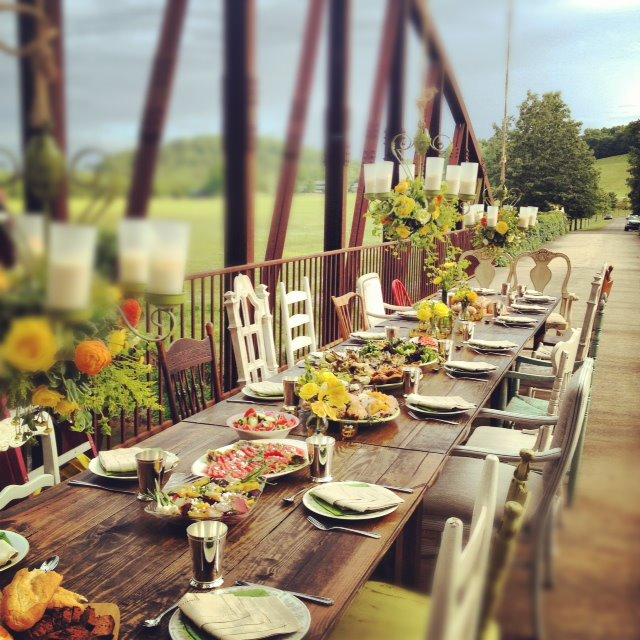Farm Table 8 Fruitwood 171 Southern Events Party Rental