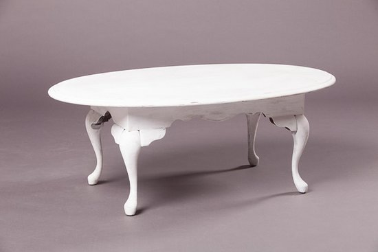 ... VPS Coffee Table Chapman White Vintage Oval Coffee Table Southern Events Nashville  ...